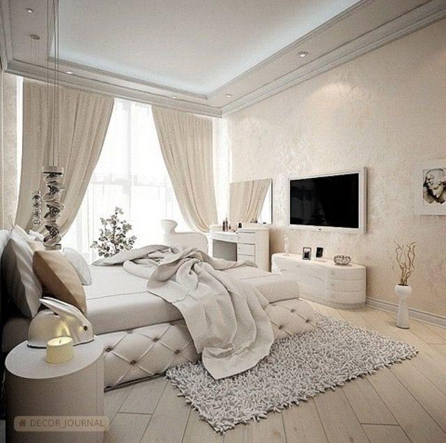 современные спальни дизайн: Понравился косметический столик, только мне кажется для