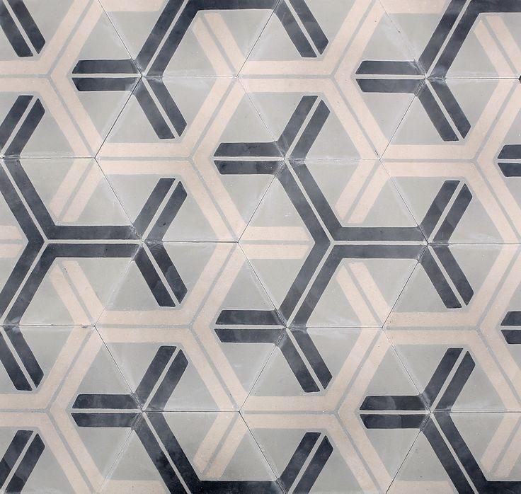 Hex arrow fog oyster milk collection cement tile - Fliesen bemalen ...