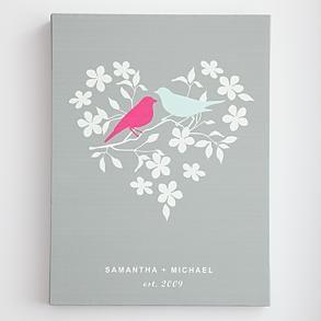 personalized love birds wall art