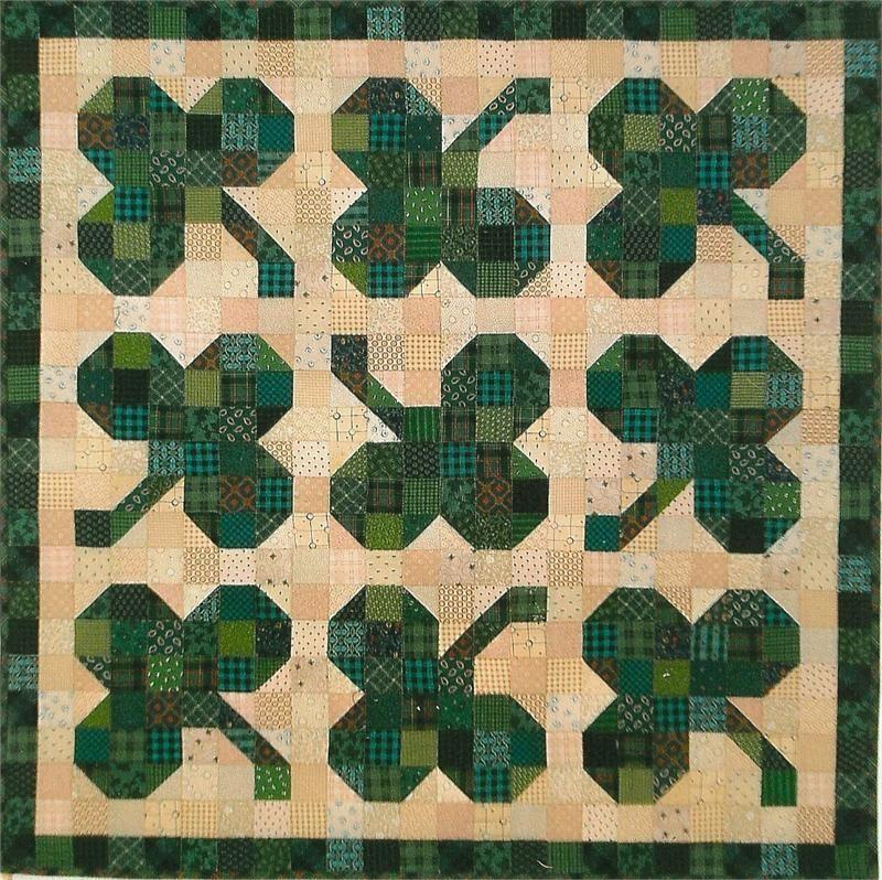 Pieced Shamorck Quilt Pattern For St. Patricks Day