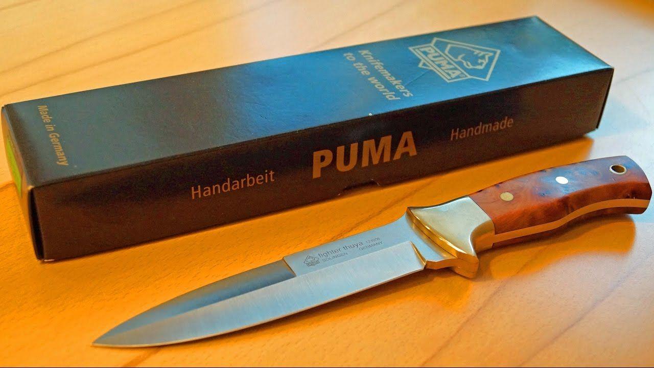 puma fighter thuja kampfmesser solingen germany handmade knife bowie sammler collector bugout. Black Bedroom Furniture Sets. Home Design Ideas