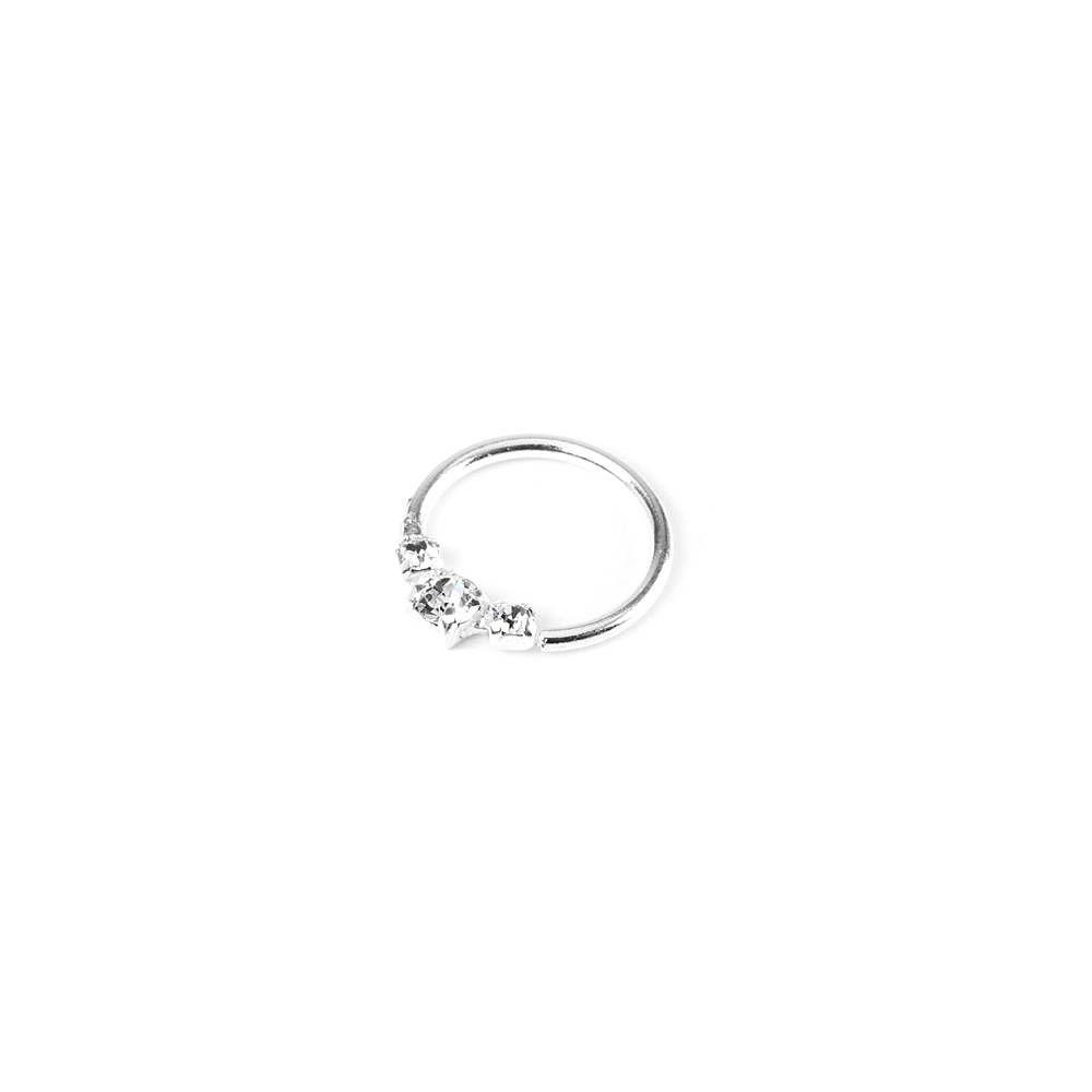20g Crystal Cartilage Hoop Earring Claire S Beauty Earrings