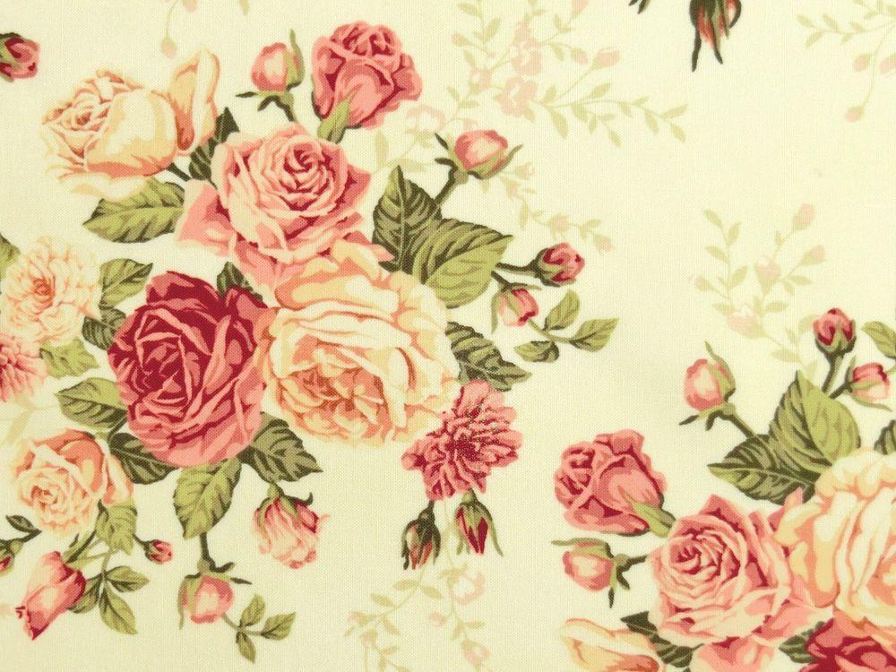 Patchwork Rosenstoffe Romantik Nostalgie Rosen Rosenknospen Altrosa Rosa Creme Patchwork Rosa Floral