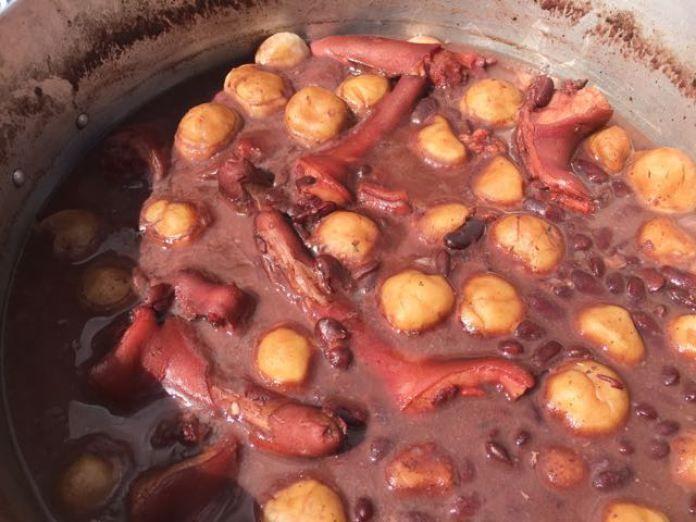 Guadeloupe dombr s lambis haricots rouges sp cialit de - Cours de cuisine en guadeloupe ...