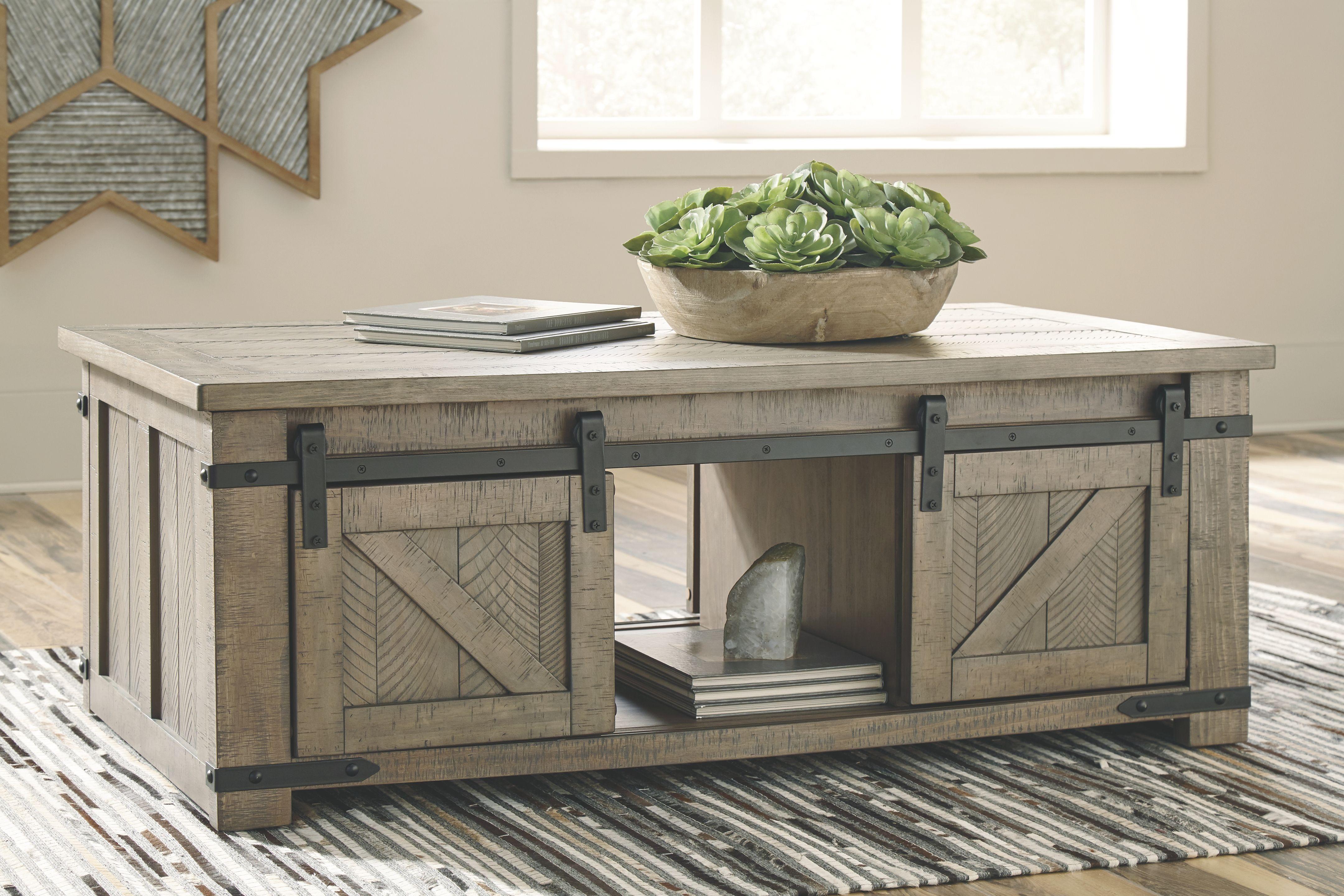 Aldwin Coffee Table Door Coffee Tables Rustic Farmhouse Furniture