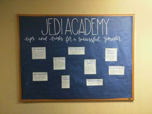 Star Wars themed res hall -- Star Wars bulletin board ...