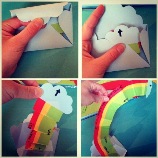 I LOVE this - Rainbow party invitation