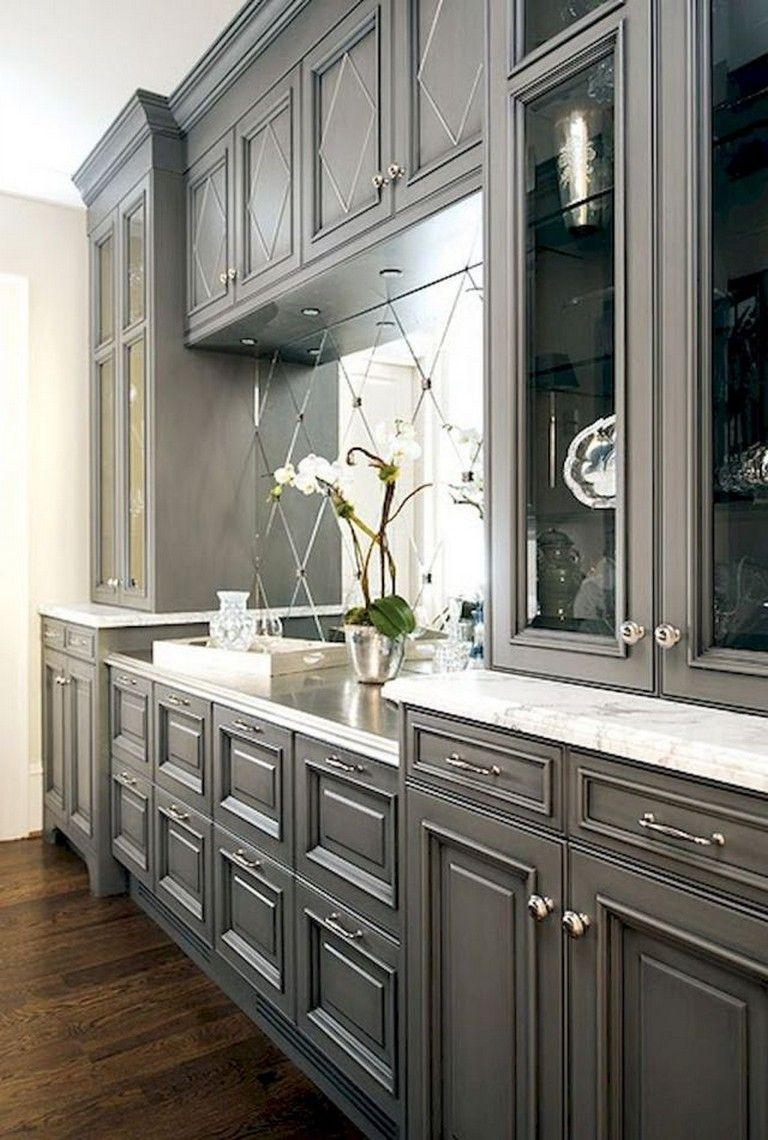 Best 70 Amazing Farmhouse Gray Kitchen Cabinet Design Ideas 640 x 480