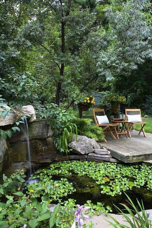 Pin de Cindy Thompson Lloyd en Ponds fountains Pinterest