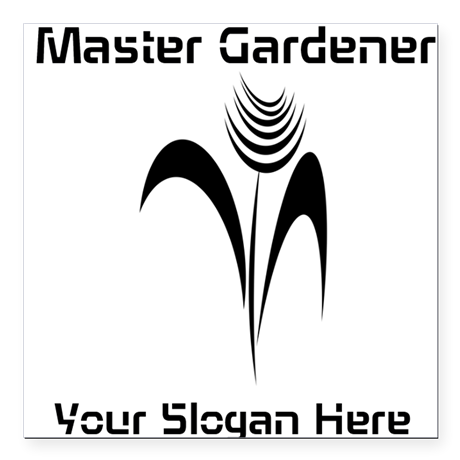 Custom Master Gardener Florist Nature Business Sticker, editable text, personalized gardener gifts.