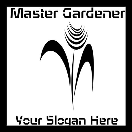 Custom Master Gardener Florist Nature Business Sticker, editable text, personalized gardener gifts.
