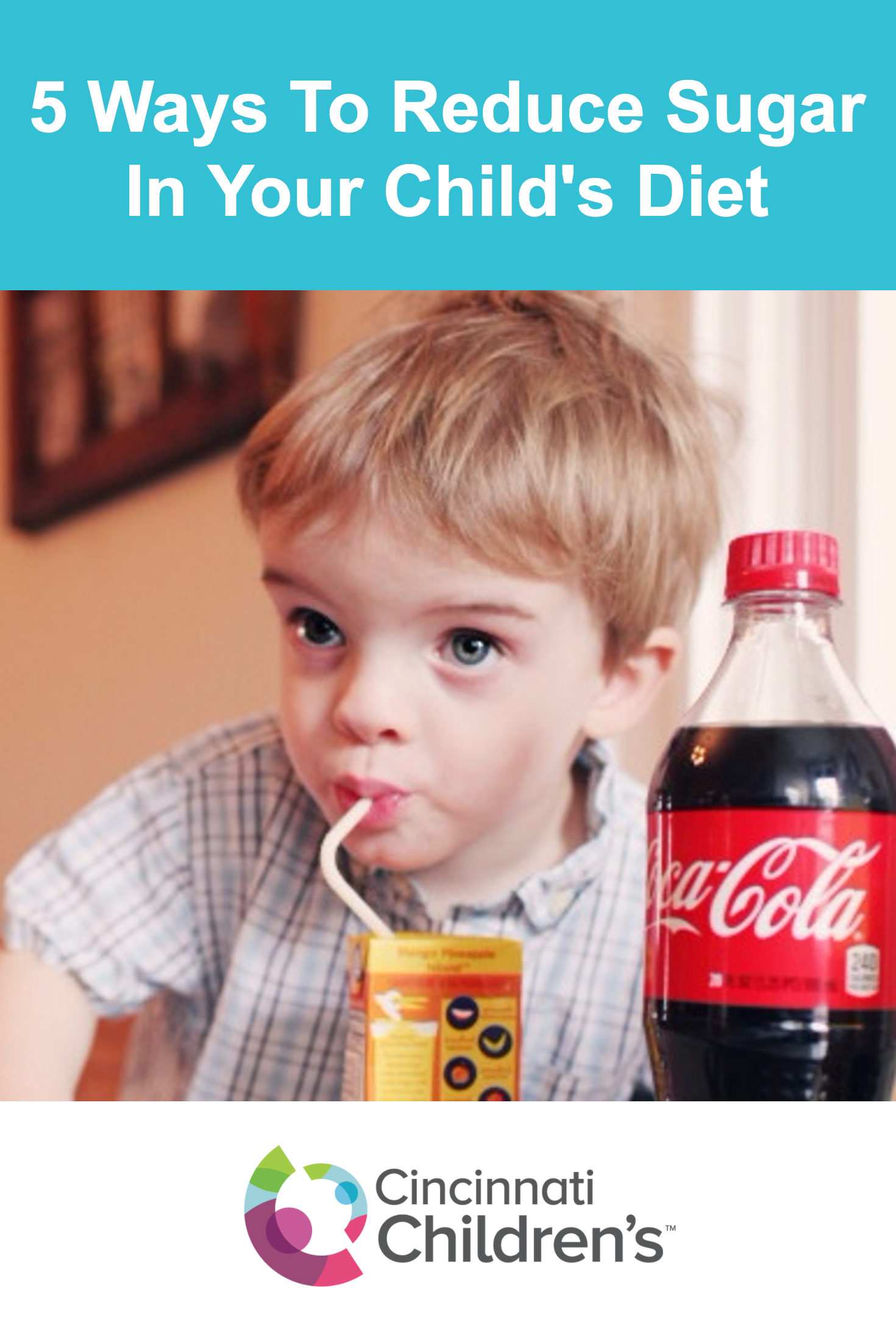 5 Easy Ways To Reduce Sugar In Your Child S Diet Cincinnati Children S Blog Diet Kids Diet Diet Cola