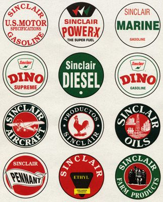 Some Of The Many Harry F Sinclair Era Logos Military Pictures Car Room Decor Oils