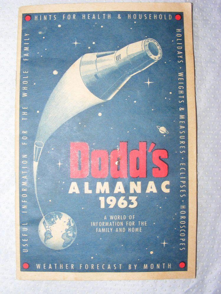 Vintage 1963 Dodd's Almanac
