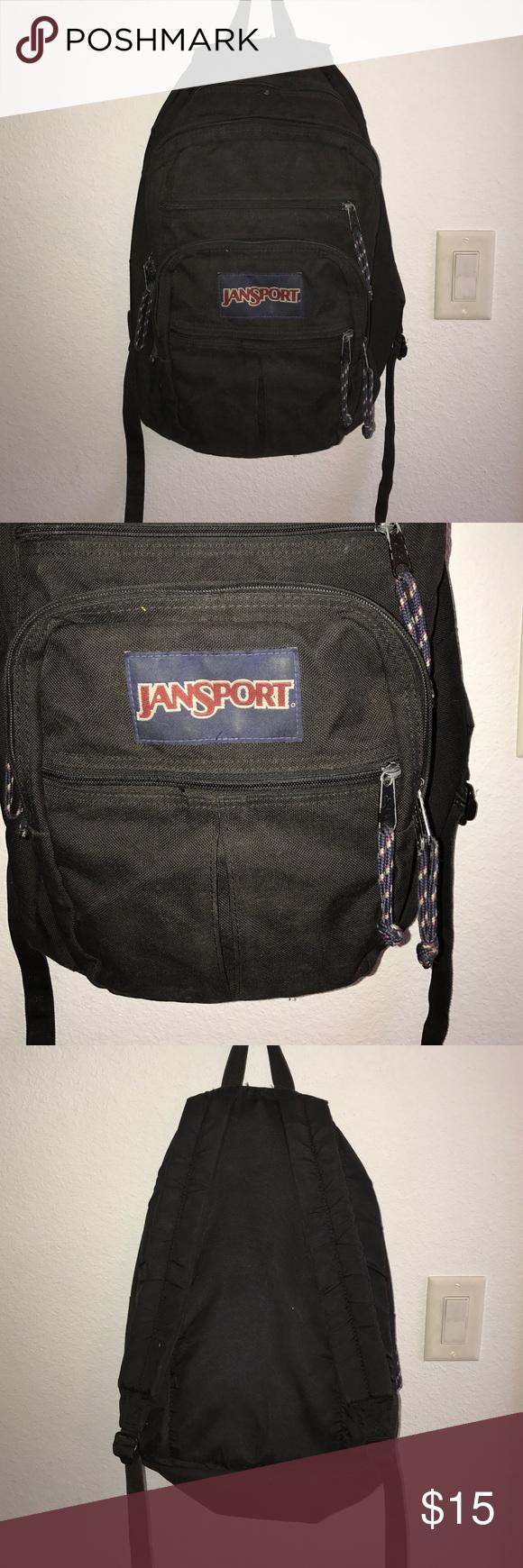 black Jansport Backpack | My Posh Closet | Pinterest