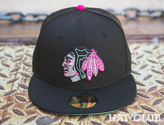 Custom Chicago Blackhawks Yeezy NEW ERA 59Fifty Fitted Cap   Hat Club 984c5058ec12