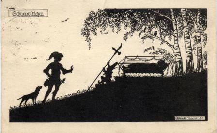 Märchen, Schattenbilder E. Forck, Schneewittchen
