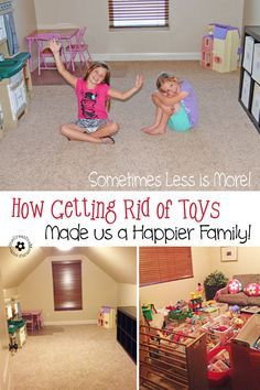 It is possible for kids to have too much of a good thing. Find out how getting rid of toys made us a happier family! {OneCreativeMommy.com}
