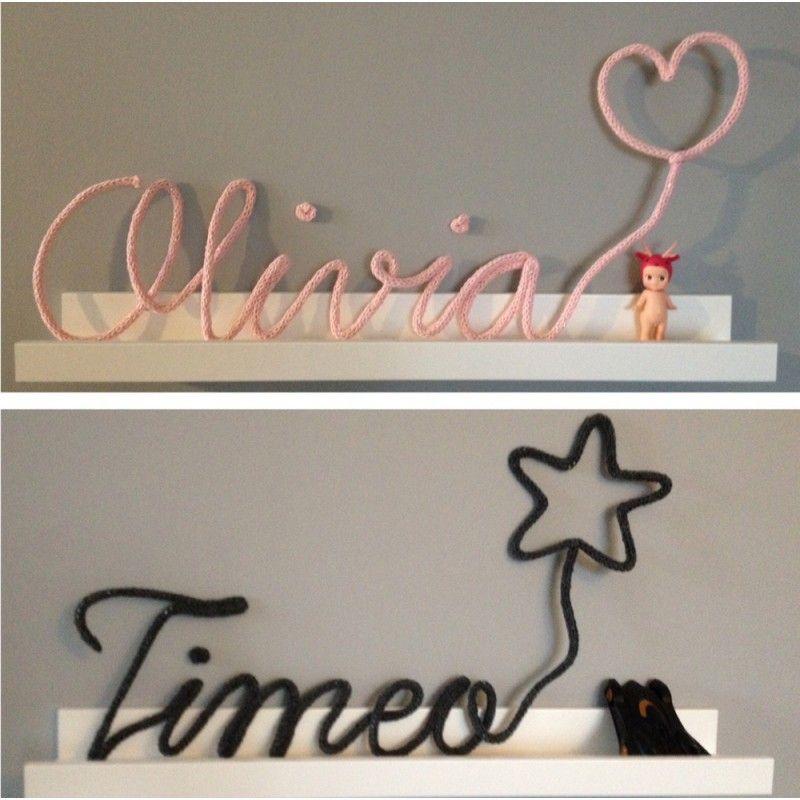 un pr nom ou un mot en tricotin agr ment d 39 un joli motif. Black Bedroom Furniture Sets. Home Design Ideas