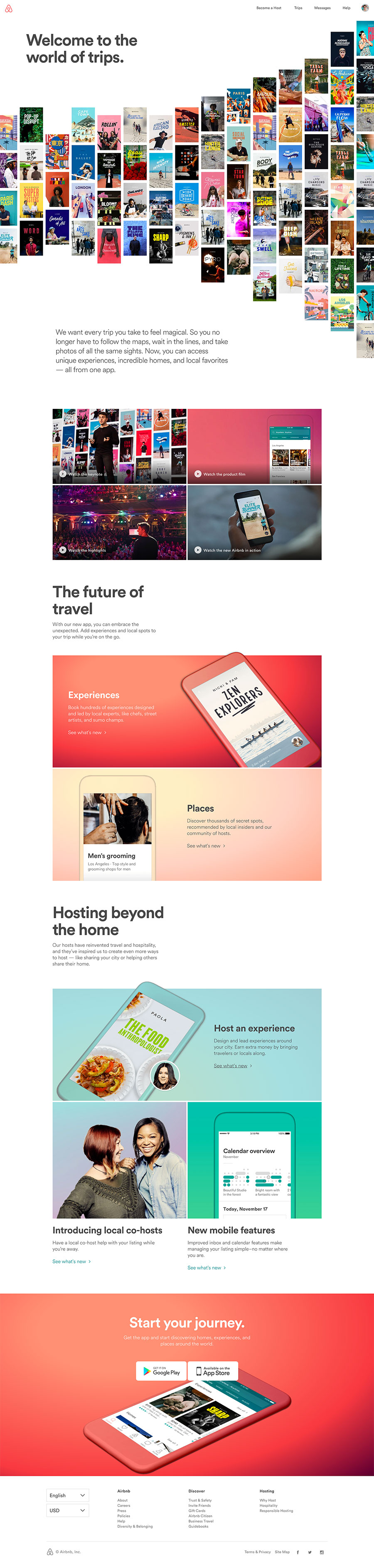 Experience Airbnb 2016 Web Design Web Design Projects Best Landing Page Design