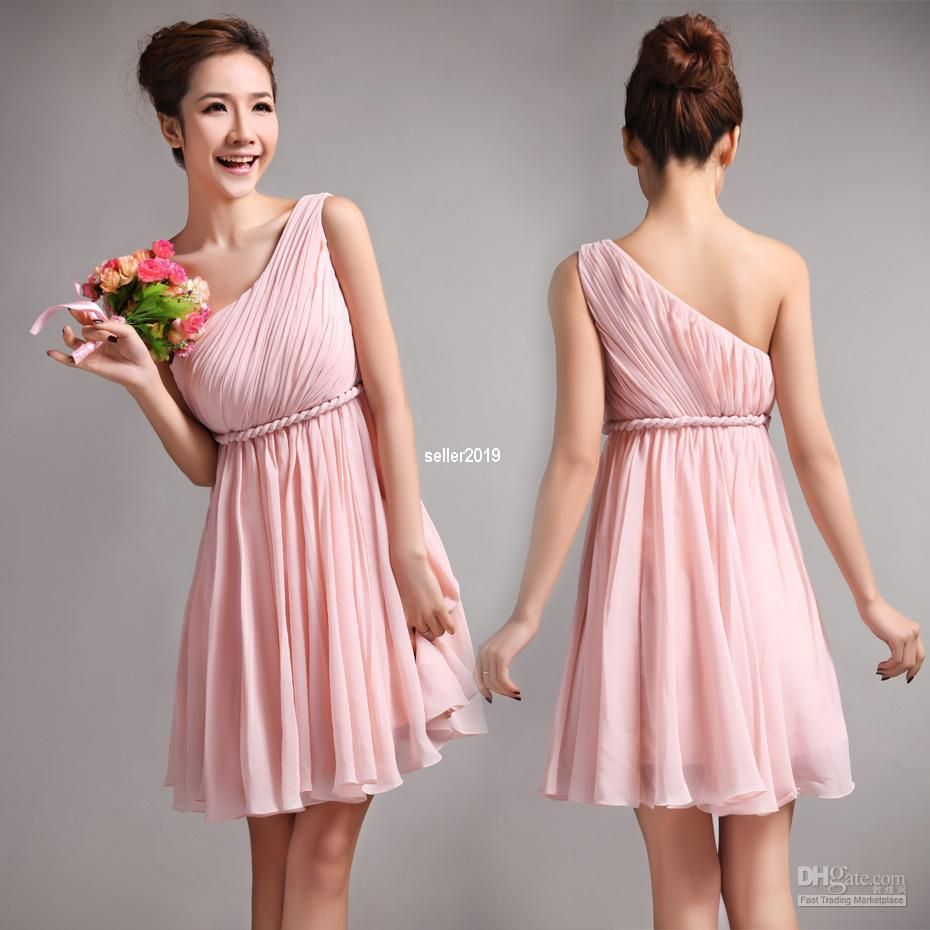 Duolaxianni 2012 New Greek Goddess Elegant Bare Shoulder Dress Pink ...