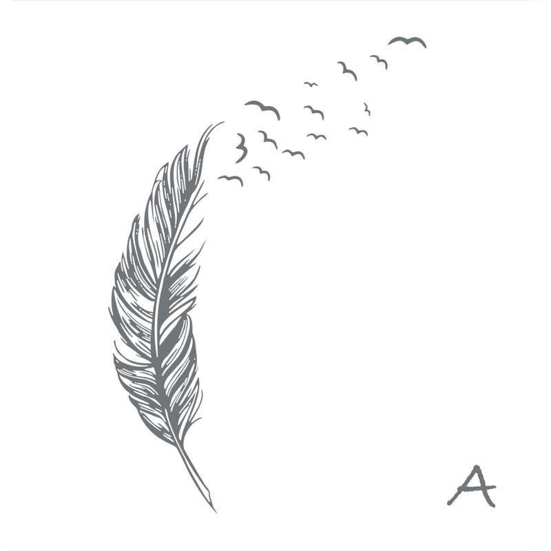 Tatouage plume qui s envole awesome tatouage plume femme top des tattoos plumes f with tatouage - Tatouage oiseau qui s envole ...