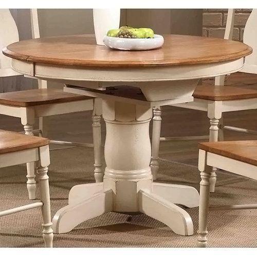 Missouri Round Dining Table Black Rustic Oak Eci: Iconic Furniture Antiqued Caramel/ Biscotti Round Dining