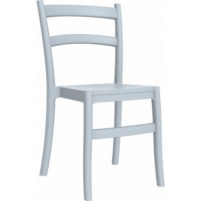 Compamia Tiffany Stacking Dining Side Chair (Set of 2) Finish: Silver Gray