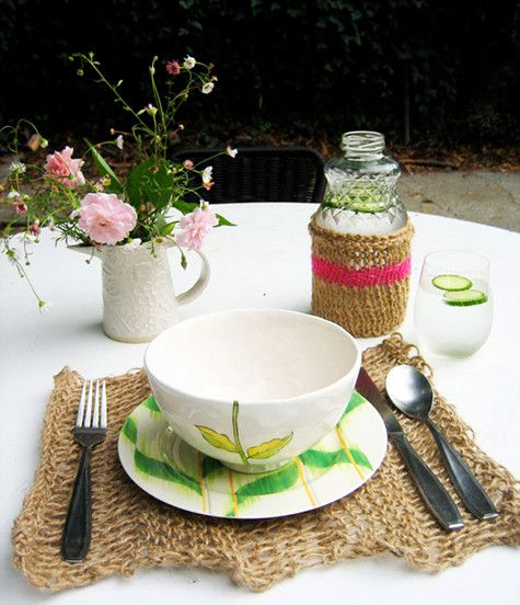 DIY: Kate's #Knitted #Twine #Dining Set #diy #home #decor #design #house #decorations #style