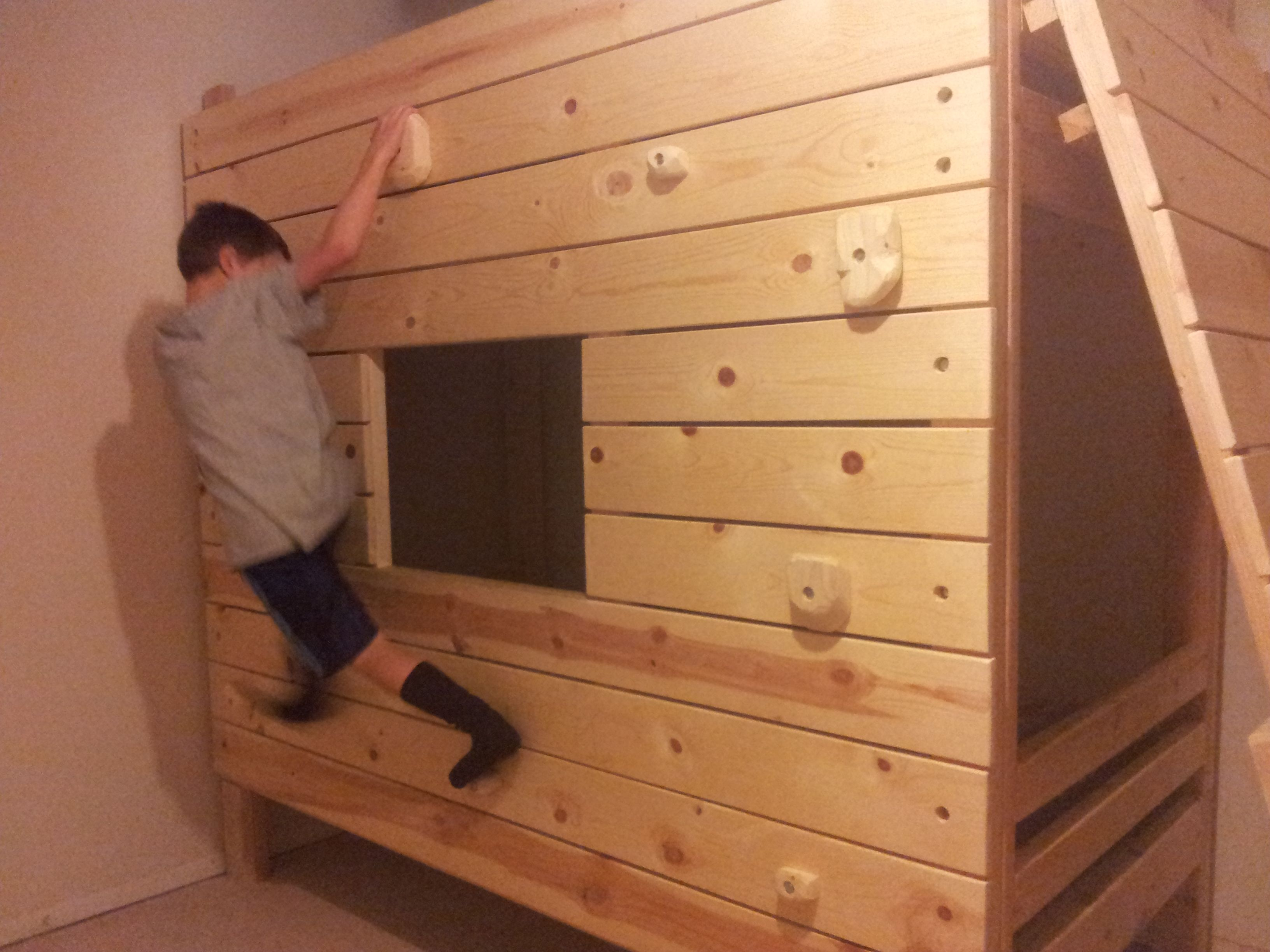rock climbing holds diy Google Search Bunk bed fort
