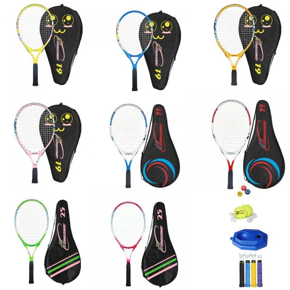 Children S Tennis Racket Set Shock Absorber Handle Four Models Tennis Racket Strong And Sturdy Children S Tennis Training Shot Sports In 2020 Tennis Racket Simple Headbands Childrens Bicycle