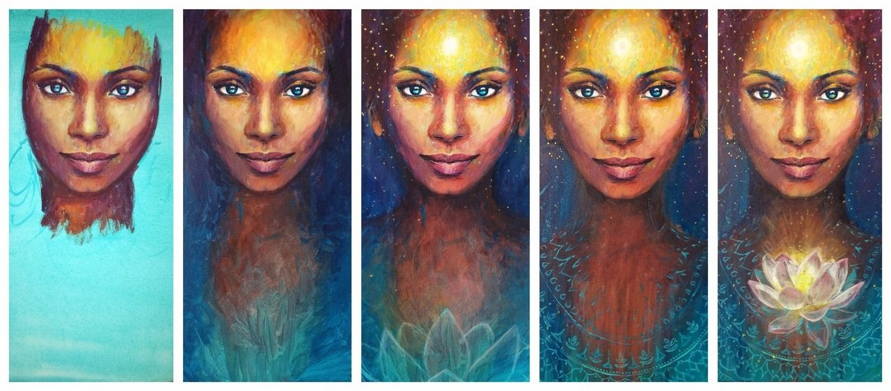 her third eye is opening beauty~full art by annelie solis