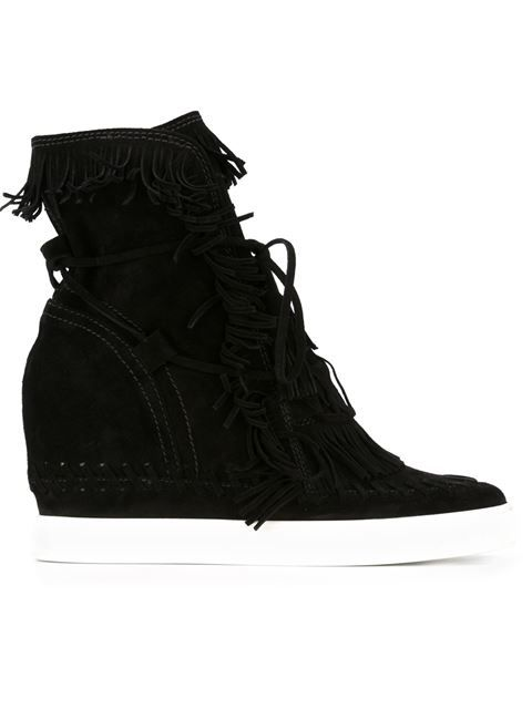 02462e926617 CASADEI Fringed Hi-Top Wedge Sneakers.  casadei  shoes  sneakers ...
