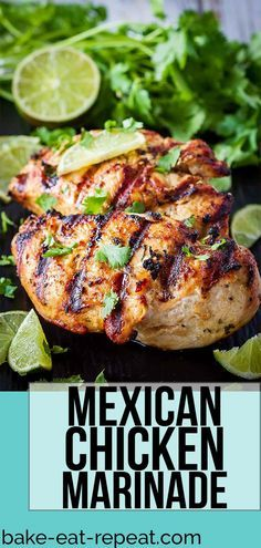 This Mexican chicken marinade is easy to mix up and adds so much flavour to your chicken. Marinate and then grill or bake, or freeze for later! #marinade #chicken #grilling #freezer #mexicanchickentacos