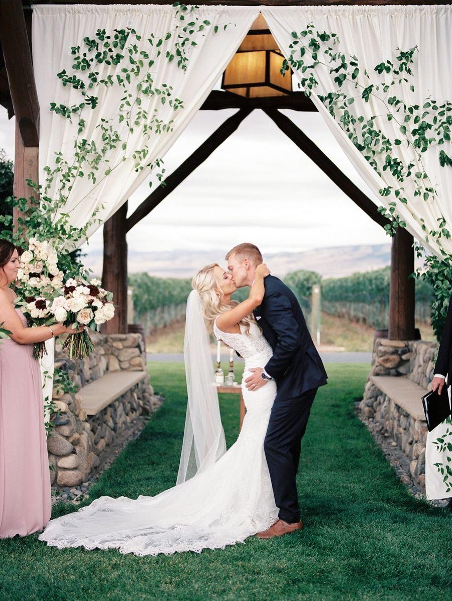 33 Rustic Fall Vineyard Wedding Ideas Mrs To Be Winery Wedding Dress Vineyard Wedding Venue Vineyard Wedding [ 1196 x 900 Pixel ]