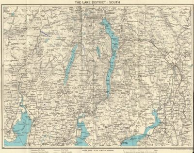1961 map of Lake District - for invitations?