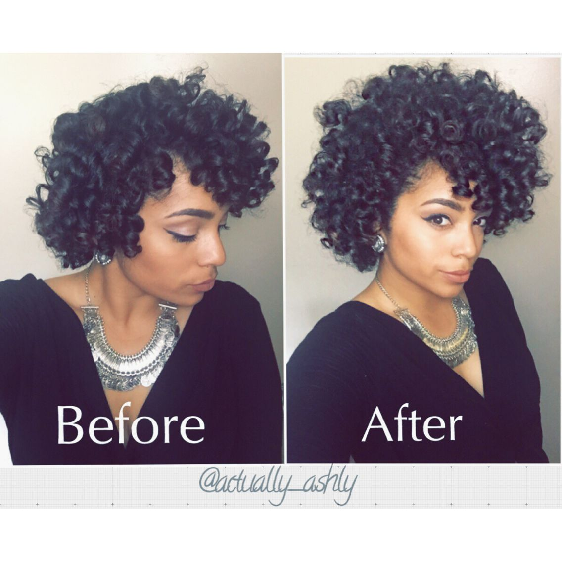 Perm Rod Set On Natural Hair This Is To Show You Before And After Fluffing In A Perm Rod Set If Yo Medium Natural Hair Styles Hair Styles Natural Hair Styles