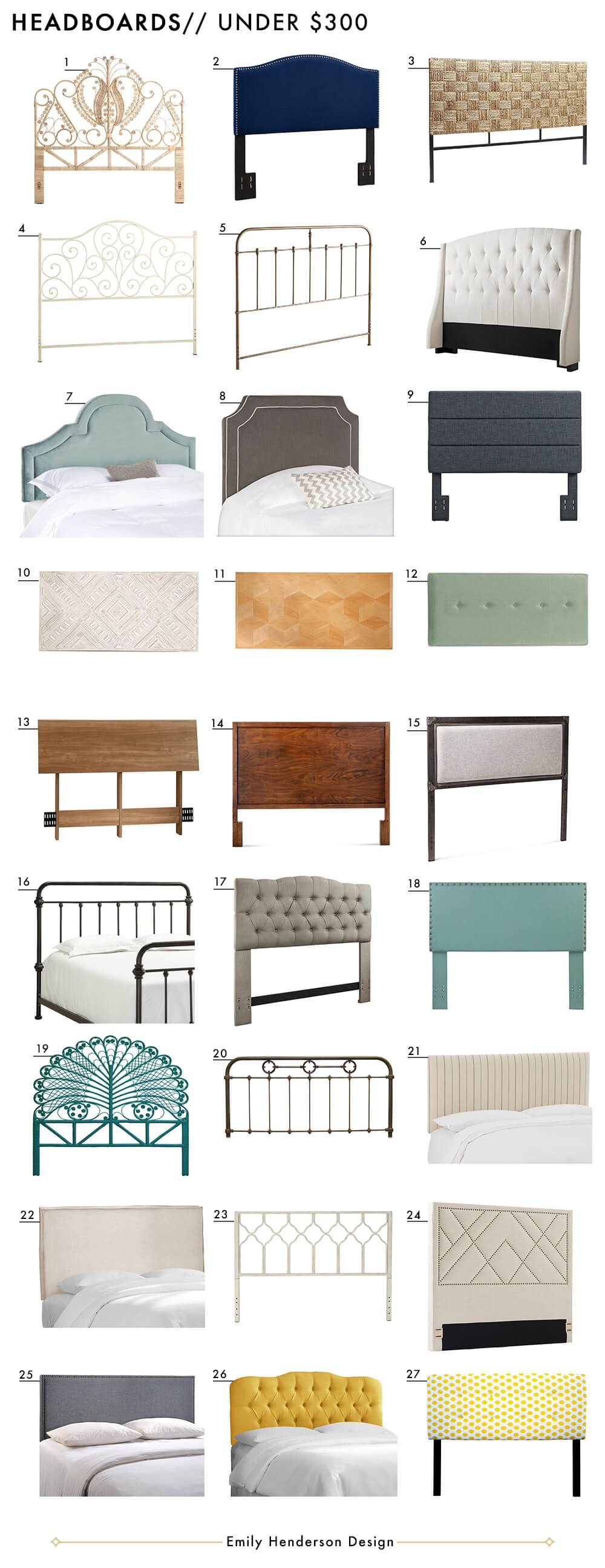 72 affordable headboards at every price point style by - Cheap bedroom furniture sets under 300 ...