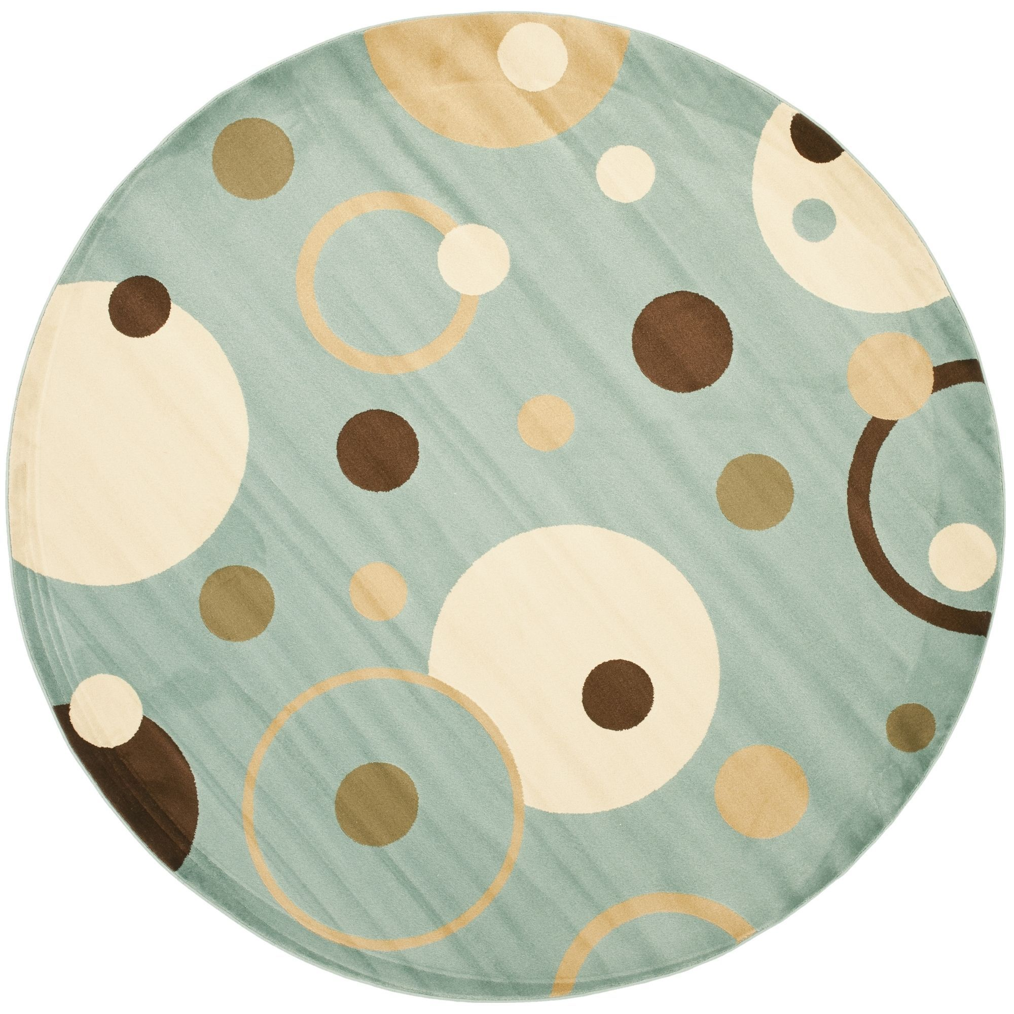 Safavieh Porcello Modern Cosmos Blue/ Multi Rug (5' Round) (PRL6851-6591-5R), Size 5' x 5' (Olefin, Abstract)