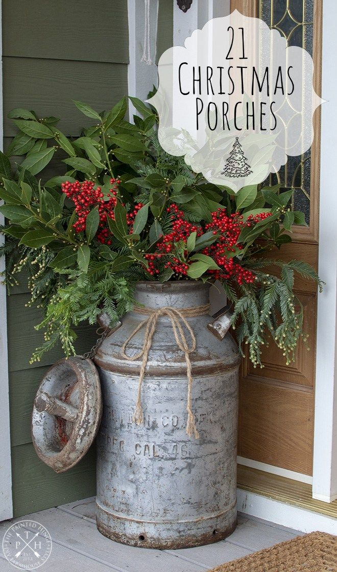 Christmas Porch Arrangement