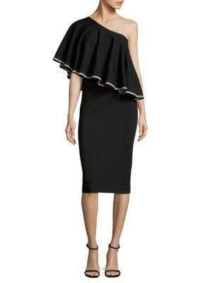 DIANE VON FURSTENBERG Ruffled One-Shoulder Dress. #dianevonfurstenberg #cloth #dress