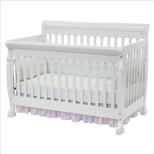 DaVinci Kalani 4-in-1 Convertible Wood Crib Nursery Set w/ Toddler ...