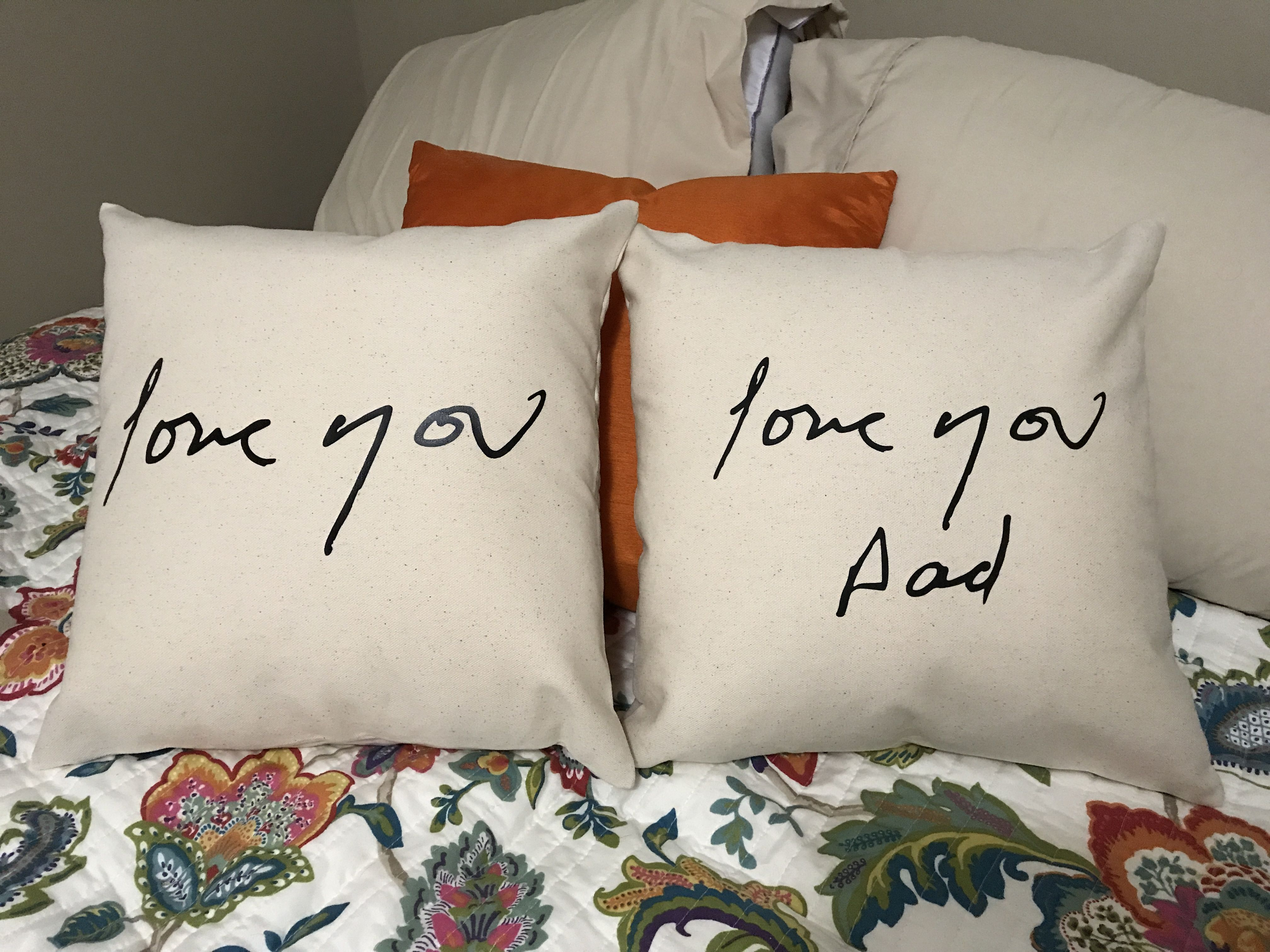 Handwriting on pillow this makes a great keepsake for