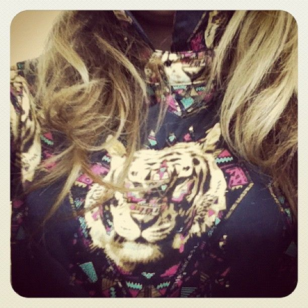 #outfit #ethnic #shiny #shirt#tiger#navajo #silk#lolitaabrahamfashion #lolitaabraham #cool#nyfw#fall2012 - @lolitaabraham- #webstagram