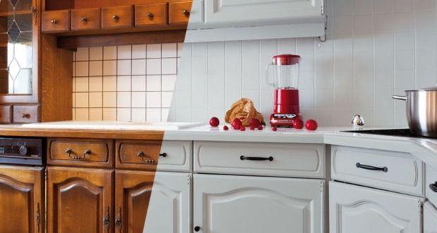 La Peinture Carrelage Au Secours Du Home Staging Cuisine - Faience credence cuisine pour idees de deco de cuisine