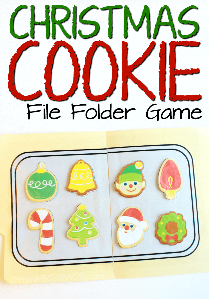 Matching Christmas Cookies File Folder Game From Abcs To Acts