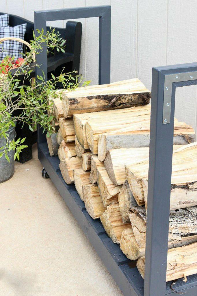 20 ideen f r brennholz lagern zum nachmachen holzlager holz brennholz und brennholz rack. Black Bedroom Furniture Sets. Home Design Ideas
