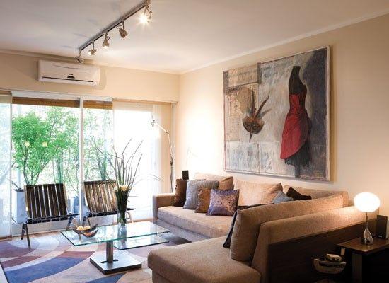 Decoraci n de salas de apartamentos en 2018 salas for Sillones para apartamentos pequenos