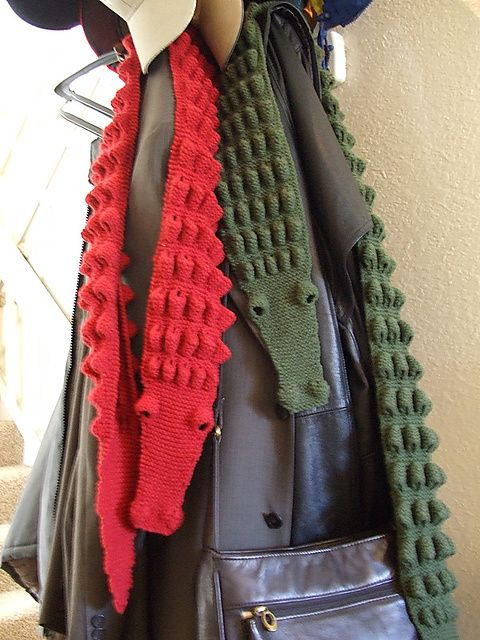 Alligator Scarf Pattern By Mindy Milliron Alligators Scarves And