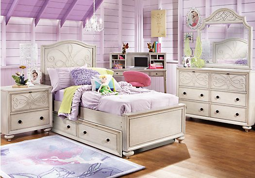 Picture Of Disney Fairies 5 Pc Twin Bedroom From Girlsu0027 Bedroom Sets  Furniture